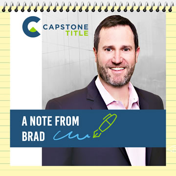 A Note from Brad